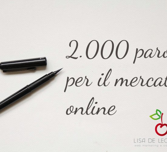 blogging per ecommerce